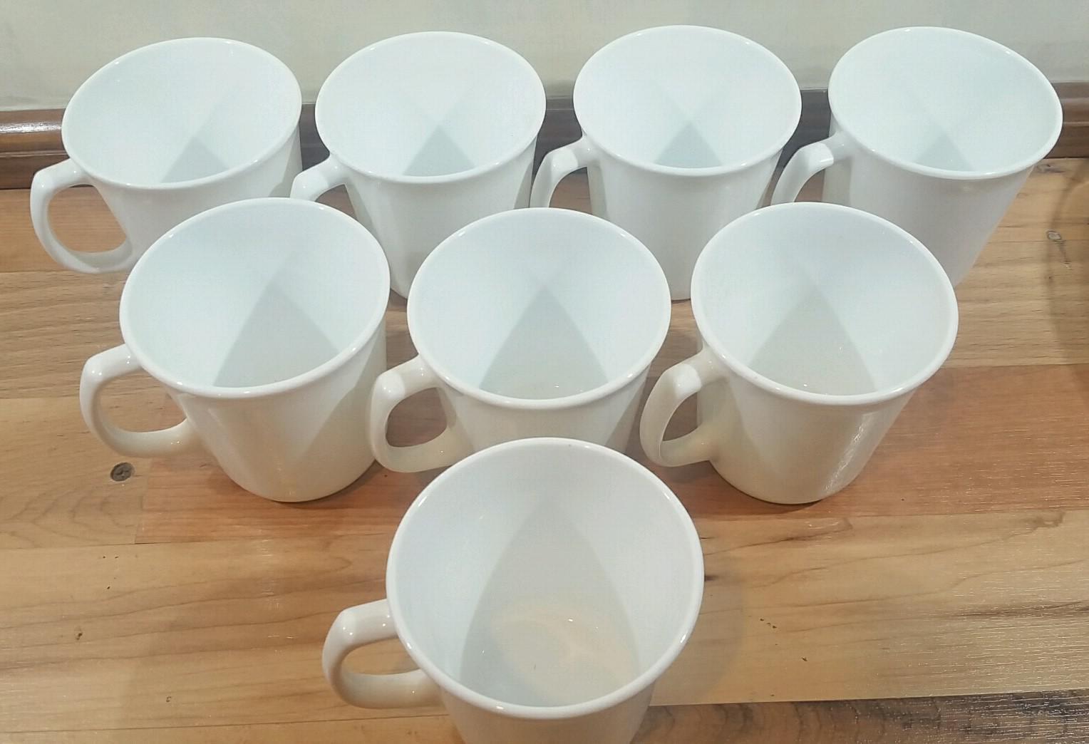 Corelle Winter Frost White Plain Supreme Coffee Cups - Set of 8 - Image 3 of  sc 1 st  Chairish & Corelle Winter Frost White Plain Supreme Coffee Cups - Set of 8 ...