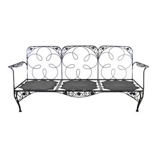Vintage Wrought Iron Meadowcraft Iron Outdoor Patio Sofa Frame For Sale