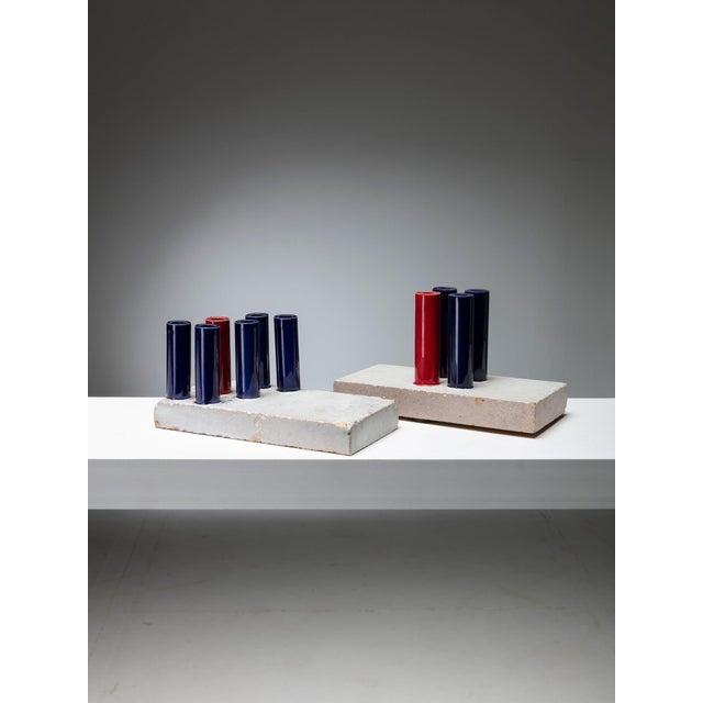 Modern Set of Three Tubi/Tubi Centerpieces by Ambrogio Pozzi For Sale - Image 3 of 6