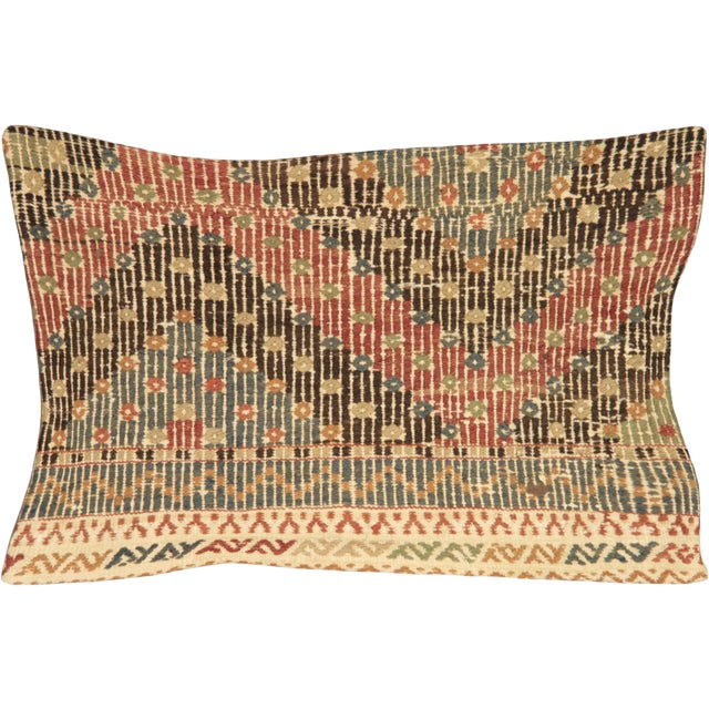 Nalbandian - 1960s Turkish Cicim Lumbar Pillow - 16' X 24' For Sale