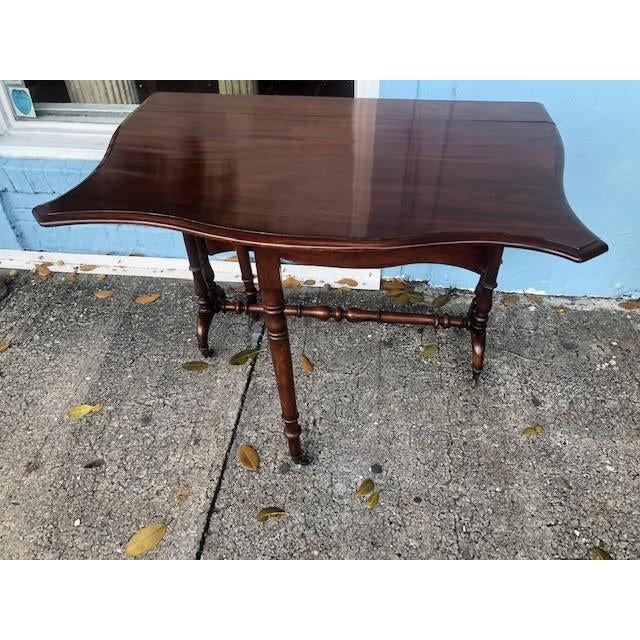 Antique English Mahogany Drop Leaf Table For Sale In West Palm - Image 6 of 7