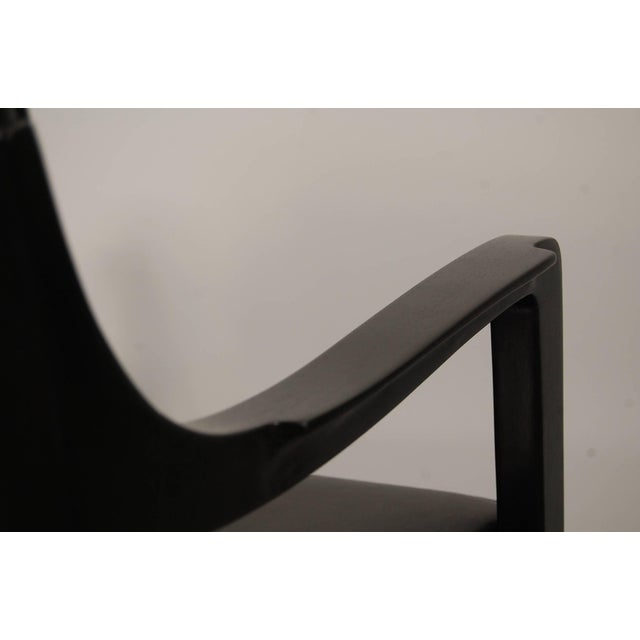 Pair of Dunbar Chairs in Black Leather For Sale - Image 8 of 10