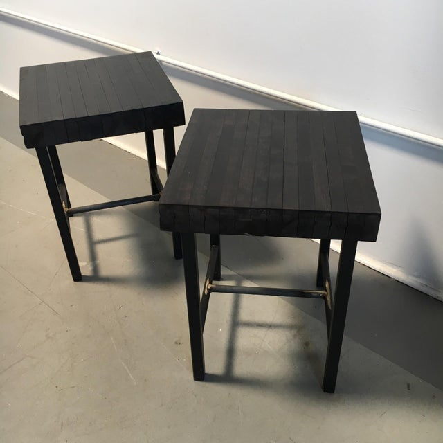 Bowling Lane Side Tables - A Pair - Image 4 of 4