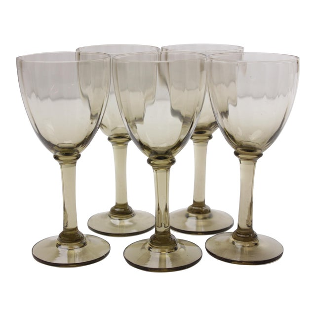 Mid-Century Port Wine Glasses - Set of 5 For Sale