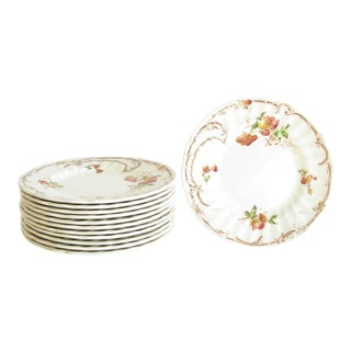 Vintage Royal Doulton Chiltern Earthenware Bread Plates - Set of 12 For Sale