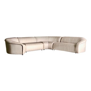 1990s Vintage Vladimir Kagan Curved Sectional Sofa For Sale
