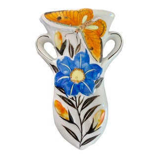 Lustre ButterflyPlanter Wall Pocket For Sale