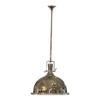 Restoration Hardware Harmon Light Pendant in Polished Nickel For Sale