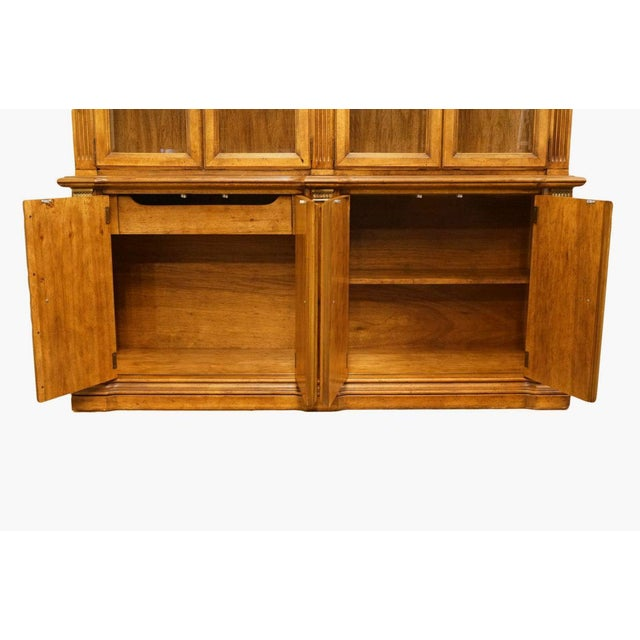 """20th Century Italian Stanley Furniture 71"""" Buffet with Lighted Display China Cabinet For Sale In Kansas City - Image 6 of 13"""