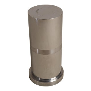 A Laminated Metal Cylindrical Pedestal 1970s For Sale