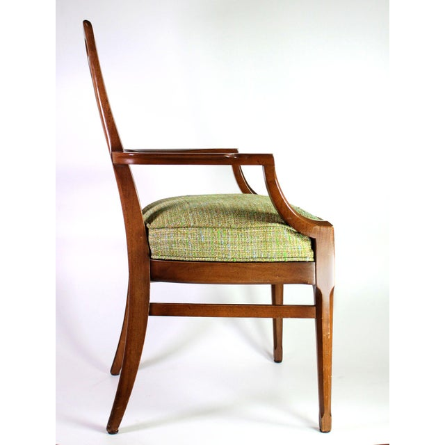 Baker Walnut Mid Century Modern Cane Backed Dining Chairs - Set of 6 For Sale In Los Angeles - Image 6 of 12