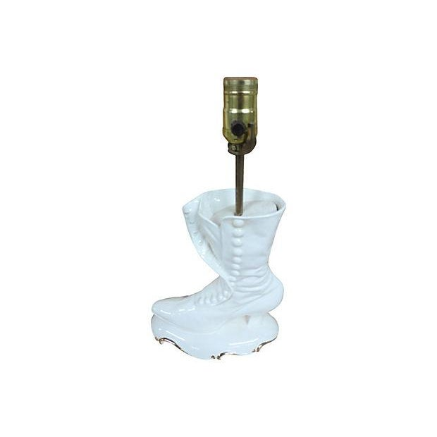 White Boot Lamp - Image 2 of 7