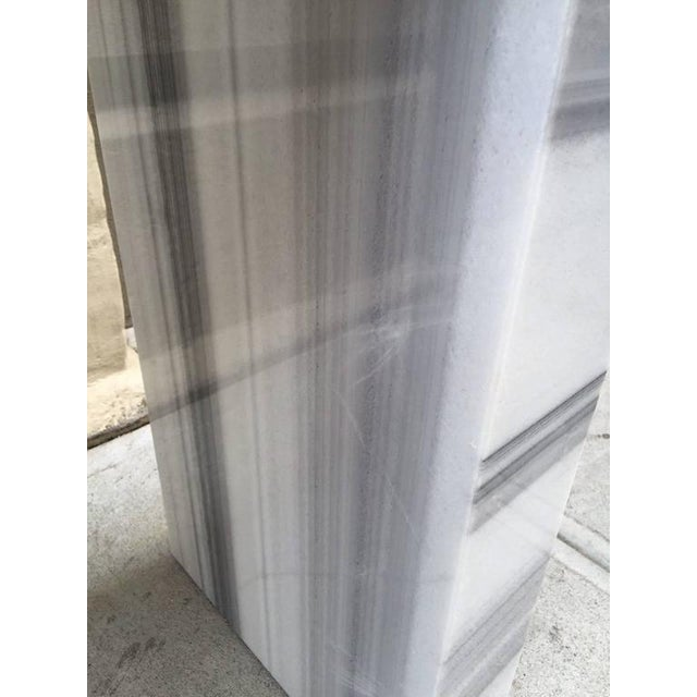 Modern Carrara Marble Console / Fireplace Mantel For Sale - Image 3 of 7