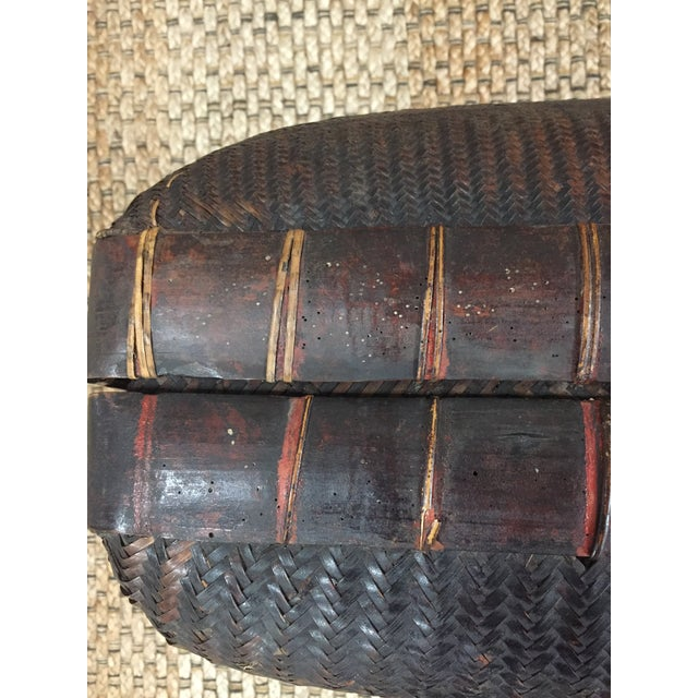 Brown Mid 19th Century Antique Storage Basket For Sale - Image 8 of 12