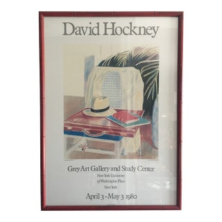 David Hockney Exhibition Print For Sale