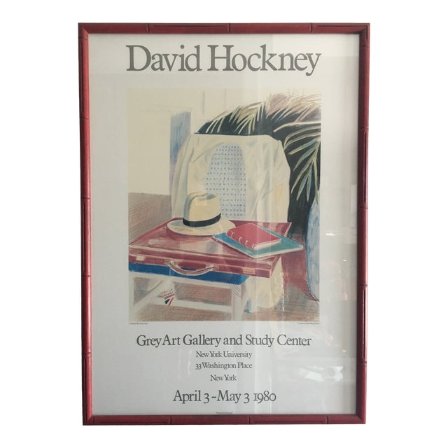 David Hockney Exhibition Print For Sale