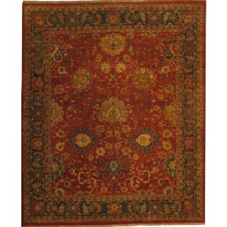 "Pasargad N Y Hand Knotted Agra Rug - 12' X 14'7"" For Sale"