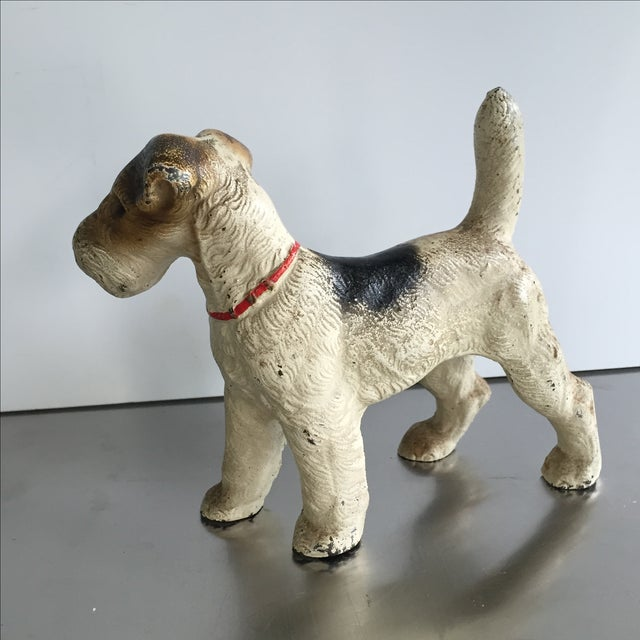Cast Iron Painted Terrier Figurine - Image 4 of 4