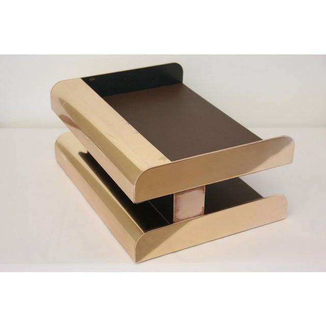 William Sklaroff Radius Two Brass Desk Tray - Image 2 of 11