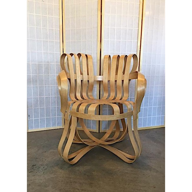 Fantastic modern Knoll cross check chair by Frank Gehry. Incredible, sculptural design. A furniture repair-person's...