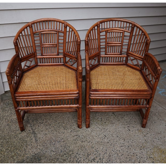 Chinese Chippendale Bamboo Brighton Pavilion Chairs - a Pair For Sale - Image 13 of 13
