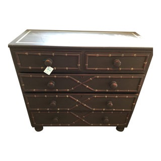 20th Century Boho Chic Faux Bamboo Chest of Drawers For Sale