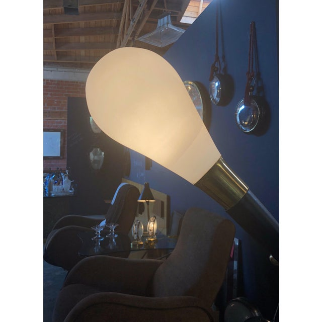 1970s Mid Century Italian Two-Armed Arc Floor Lamp For Sale - Image 11 of 12