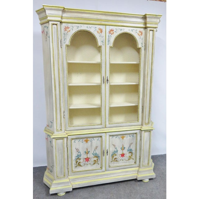 Italian Painted Decorated Bookcase For Sale - Image 9 of 9