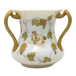 19th Century American Classical Belleek Willets 3 Handled Love Cup