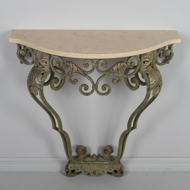 French French Louis XV Style Iron Console For Sale - Image 3 of 9