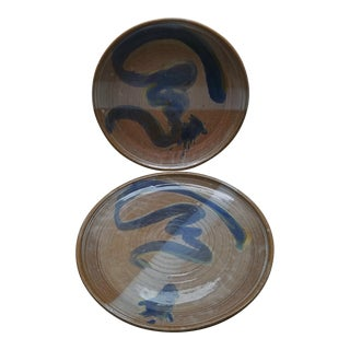 Vintage Coffman Pottery Plates, 2 Piece For Sale