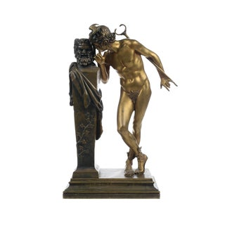 H. Moulin- a Secret From on High -Bronze Sculpture For Sale