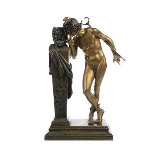 H. Moulin- a Secret From on High -Bronze Sculpture