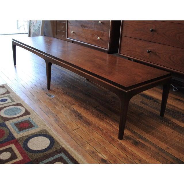 Mid Century Modern Walnut Extra Long Coffee Table By Lane