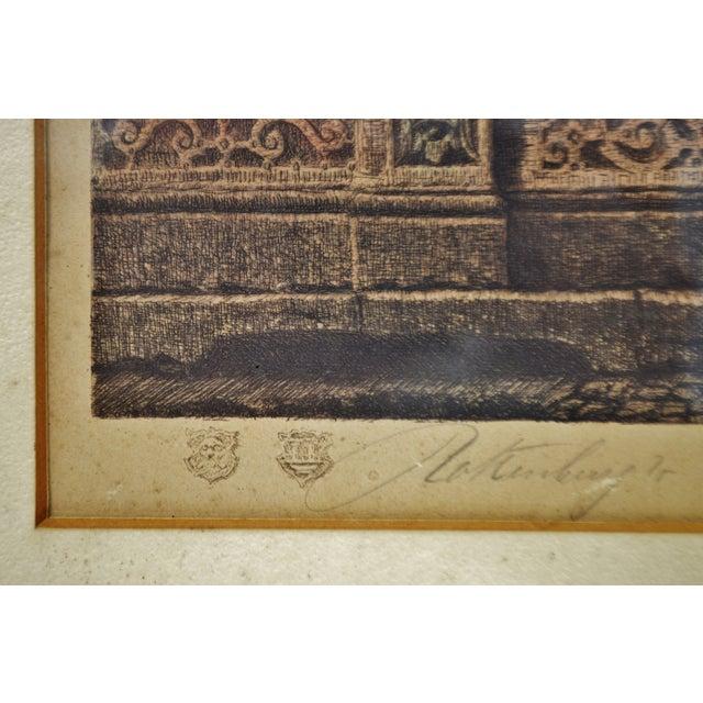 Traditional Vintage Ernst Geissendorfer Etching For Sale - Image 3 of 11