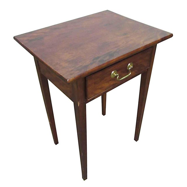 Traditional Single Drawer Wooden End Table For Sale - Image 3 of 8