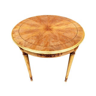 1940s Italian Fruitwood Center Hall or Accent Table For Sale