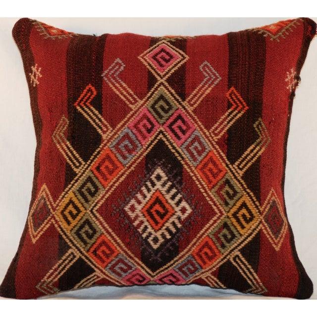 Vintage Handmade Wool Decorative Boho Pillow - Image 4 of 7