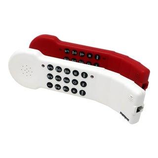 1980s White Swisstel Postmodern Bendable Telephone For Sale