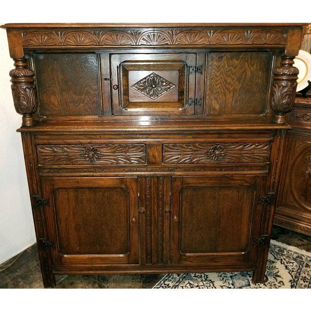English Oak Renaissance Revival Cabinet For Sale - Image 13 of 13