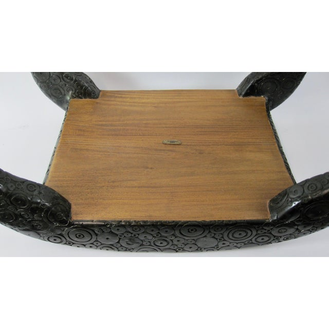 R & Y Agousti French Style Ebony & Shagreen Bench For Sale - Image 9 of 10