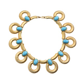 Mimi DI N Necklace Turquoise Glass Necklace For Sale