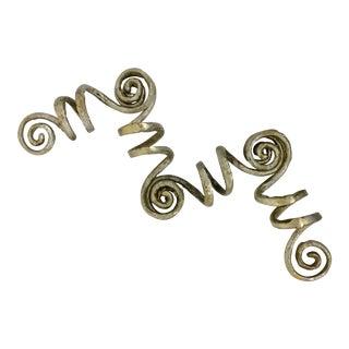 Vintage Metal Napkin Rings - Set of 4