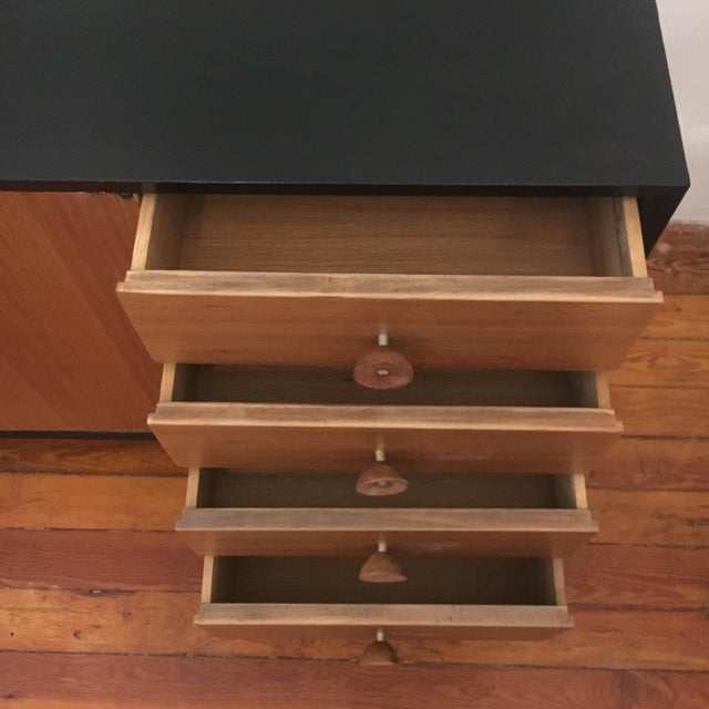 George Nelson Walnut Credenza Herman Miller Mid Century Modern Eames Era For Sale In New York - Image 6 of 11