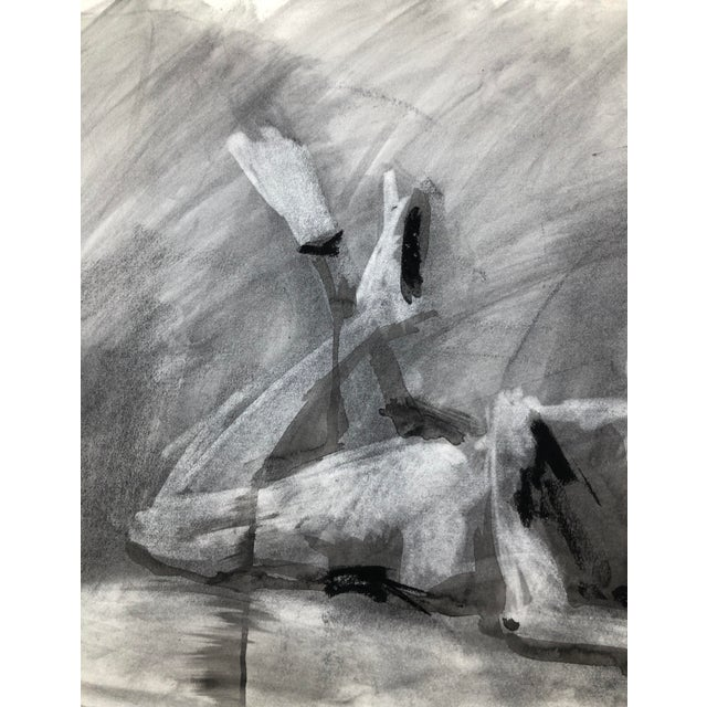 """Contemporary Figure Drawing in Charcoal and Ink - """"Idle, Crossed Feet"""", by Artist David O. Smith For Sale - Image 9 of 12"""