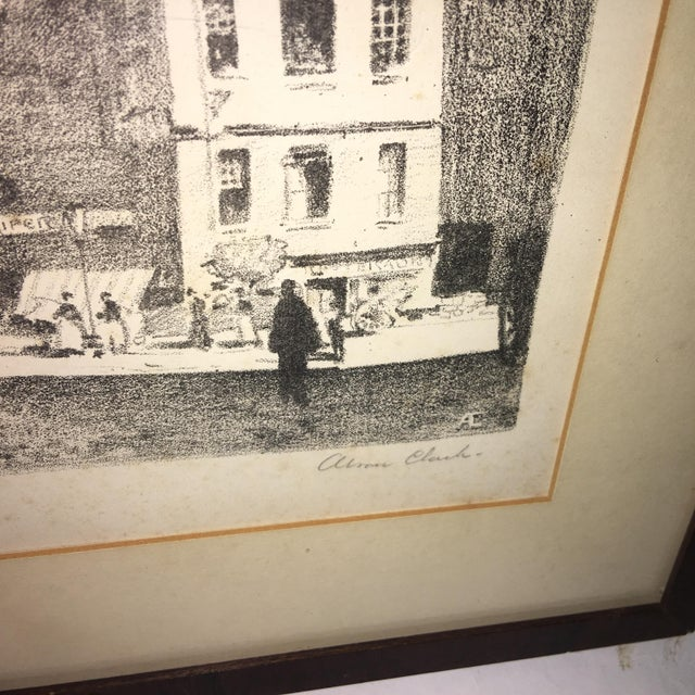 English Early 20th Century Antique European Town Scene Lithograph Print For Sale - Image 3 of 7