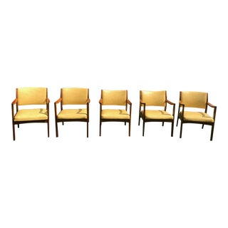 Danish Walnut Armchairs by Johnson Chair Co. - Set of 5