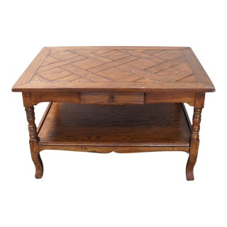 Traditional Charles Pollack Oak Side Table