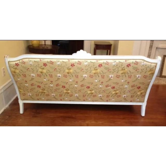 Antique Louis XVI Style French Settee - Image 7 of 9