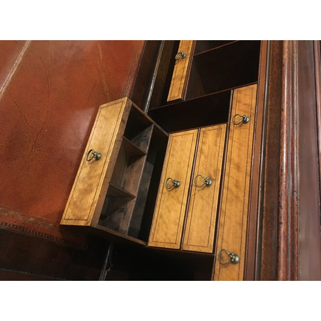 18th Century George III Bookcase Secretary For Sale - Image 4 of 13